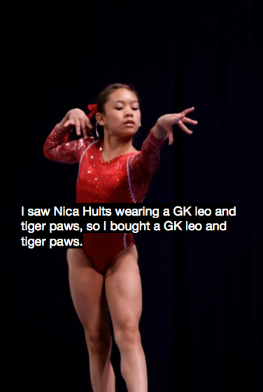 "gymnasticsconfessionss:  *We're not really sure what this confession is referring to, so here's a nice pic of Nica instead!  It's a ""Mean Girls"" reference."