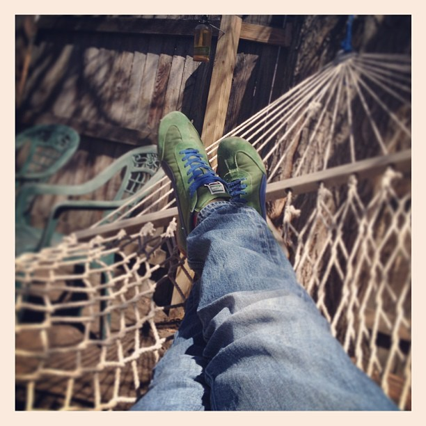 70 degrees and a #hammock!!! Great #zombiejesus day! (at Little Burrow of Love)
