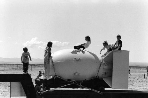 Children Playing on a Nuclear Bomb Casing by Rene Burri (1992)