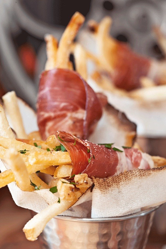 basilgenovese:  Prosciutto-Wrapped Truffle Fries