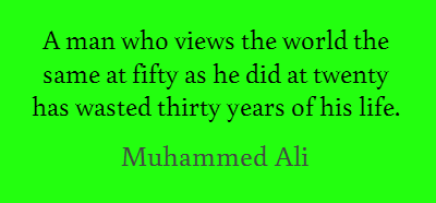 Muhammed Ali motivational quotes this week on the Unmasked Recruiter.