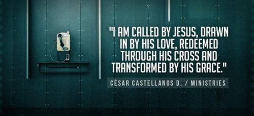 """I am called by Jesus, drawn by His love, redeemed through His Cross and Transform by His grace."" ~ CCD"