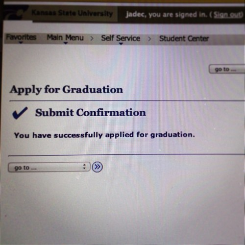 Well this just got real. #graduating #kstate #agcomm #abouttime