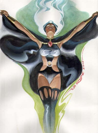 astonishingx:  Storm by Steve Rude  Amazing as usual. The Dude himself!