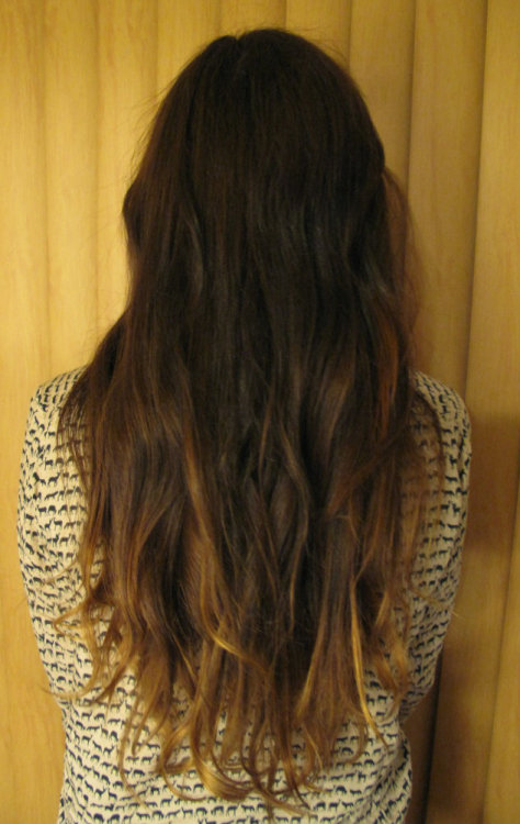 the day i got my hair ombre'd :-)  Submitted by: takeabreakfromthechaos