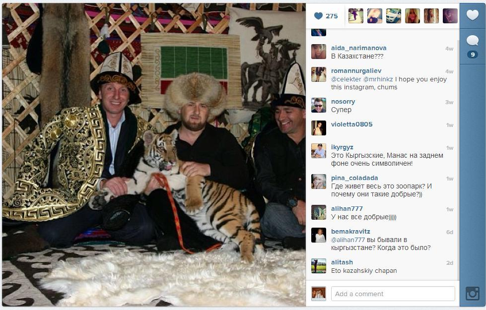 dailydot:  Chechnya's president is absolutely incredible at Instagram