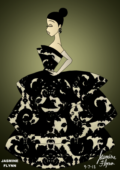Black Ivy Dress. a digital drawing by me, Jasmine Flynn :)