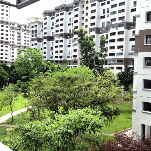 View from our place :)  (at Blk 286B Toh Guan Road)