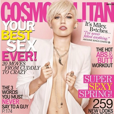 "COVER ALERT! #MileyCyrus covers @cosmomag wearing  ""White"" #nails by @jennahipp @rgbcosmetics. #makeup @patiprema #hair @chrismcmillan #styling @rachelzoe  #photo #matthiasvriens  #marchissue"