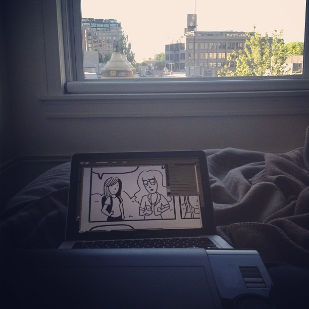some quick coloring from the hotel bed. (at Ace Hotel Portland)