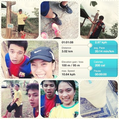 Ive once told my self that o cud never gonna hike at bukit shahbandar like ever! For the 3rd time for 2013 i managed to go through without stopping! Esp the killer stairs! Haha so no more pushing me to go through eh? @aryff haha Alhamdulillah i am very proud of how far i could get through! HOO-AH! 👊💪