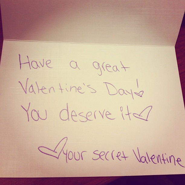 My first secret valentine! #tridelta #valentinesday