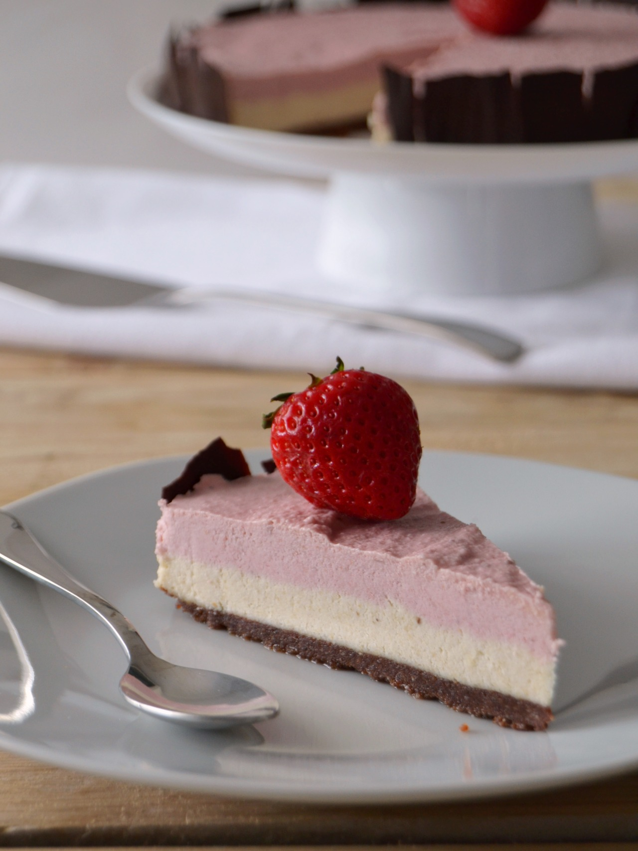 Frozen Strawberry Chocolate Cake