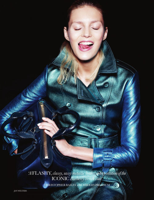Anja Rubik by Jan Welters for Elle UK February 2013