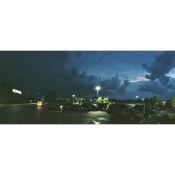 Panorama of the storm right before it hit about an hour ago from our south (left corner). I haven't seen rain like that since last summer. (at Kohl's)