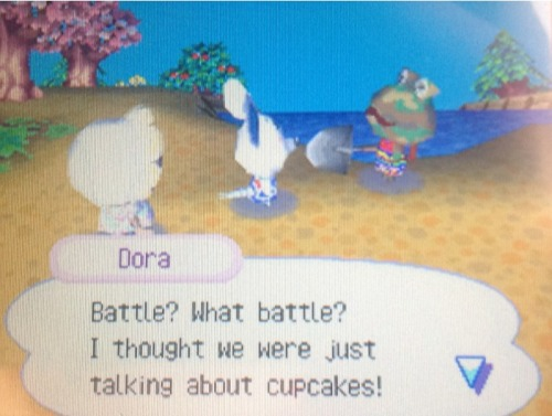 Aw Dor. She invited Camofrog round for cupcakes and apropos of nothing he started an argument.