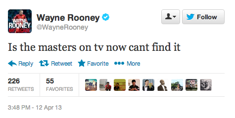 "Wayne Rooney uses his 6 million Twitter followers as his personal Google. Also is not a fan of punctuation. I'm 99% sure ""Is"" has a capital ""I"" because of auto-capitalization on his phone."