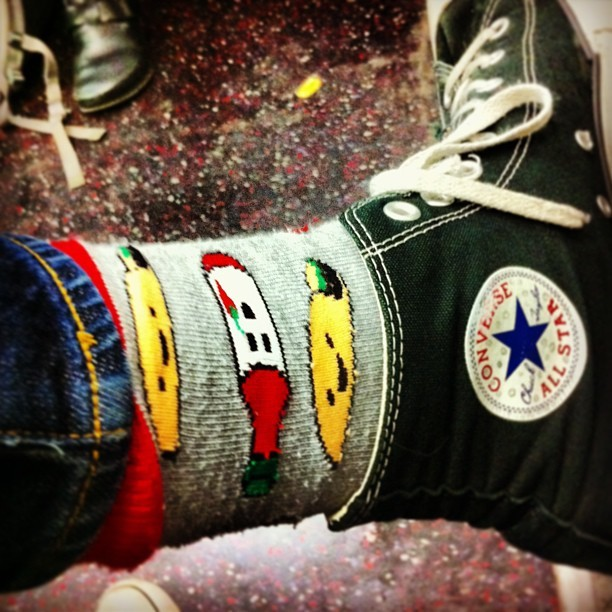My socks have happy tacos and obliging hot sauce on them. They are delicious.