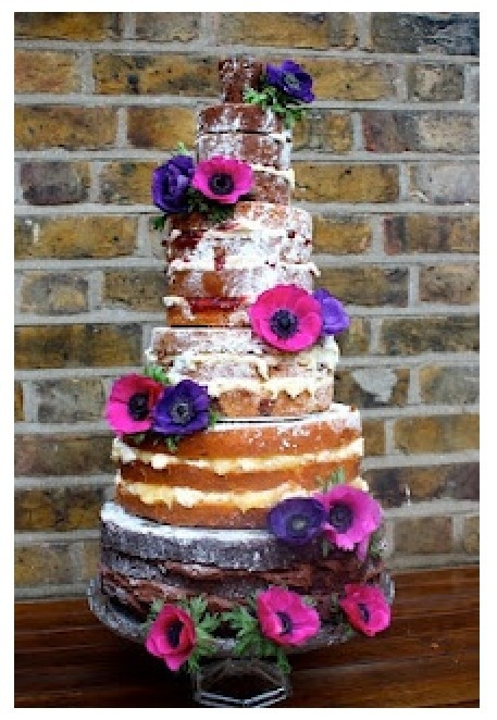 Love the look of 'naked' cakes.