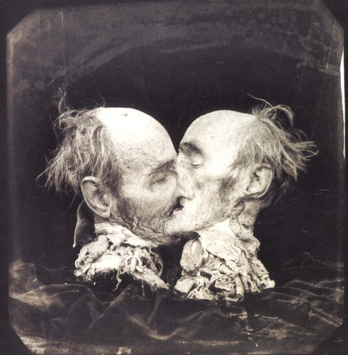 cavetocanvas:  Joel-Peter Witkin, The Kiss, 1982