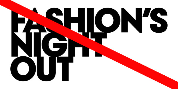 "Fashion's Night Out (aka Night of A Thousand Events We Don't Really Want To Attend) won't be happening in the US this year so that brands can use the money they'd been spending on all of those parties for their own ""specific needs."" Boy are we happy about this. [via WWD]"