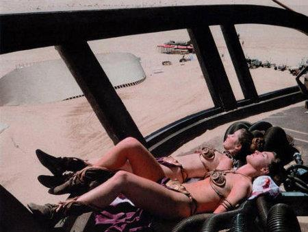 backtotheeighties:  off-set Return of the Jedi (1983) Carrie Fisher and body double