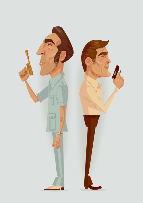 "thre3f:  ""The Man With The Golden Gun"" by James Gilleard"