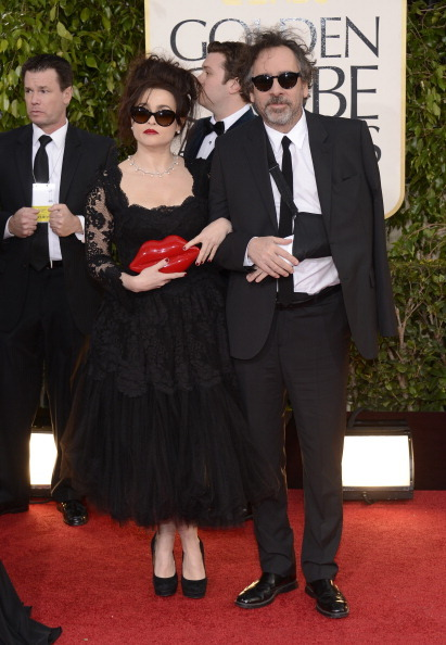 fuckyeahhotactress:  Helena Bonham Carter and Tim Burton at the Golden Globes 2013  Bestest.