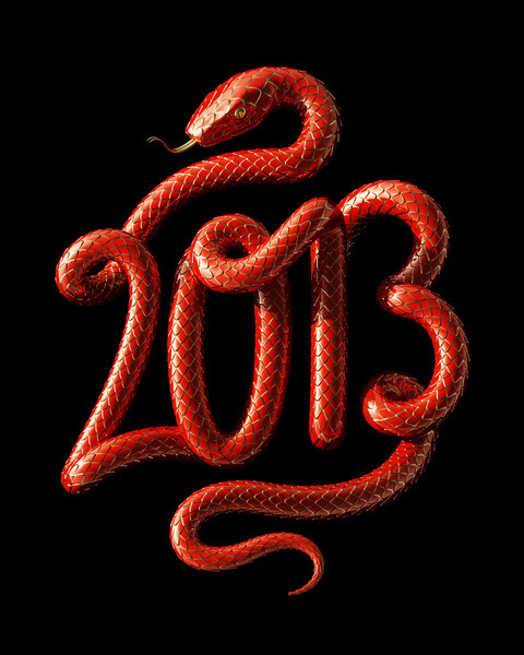 Typeverything.com - Year of the Snake Art Print by David McLeod.
