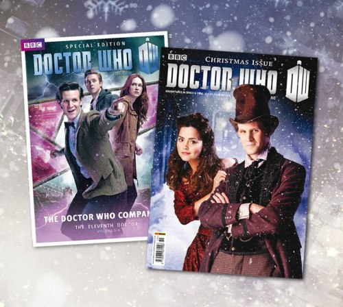 New Editions of Doctor Who Magazine and The Doctor Who Compaion via The Doctor Who Facebook Page: The Christmas edition of Doctor Who Magazine hits the shops today, featuring an exclusive interview with Jenna-Louise Coleman on her debut as Clara. Also out now is 'The Doctor Who Companion: The Eleventh Doctor Volume Six' which gives you an in-depth look back at series 7 part 1, featuring behind the scenes, deleted scenes info and hundreds of facts about the series.
