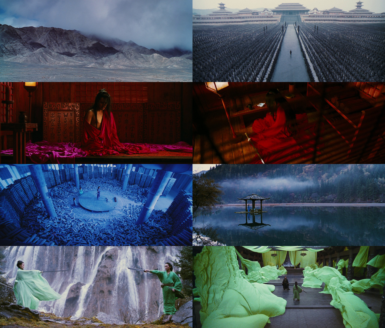 This film was pretty awful but the implementation of colour was interesting at least. Hero, Zhang Yimou (2002)
