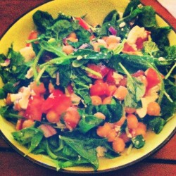 Proud of the way #dinner looks #chickpea #salad