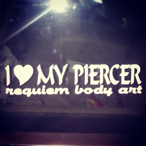 @modifiedflorida is the shit! Everyone go to Requiem Body Arts and get pierced!  (at Home)