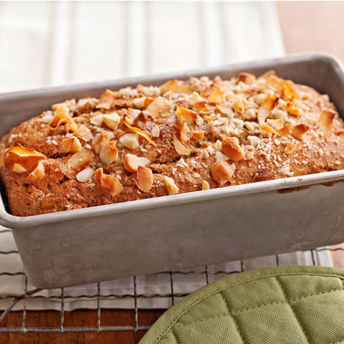 Banana-Coconut Bread: Whole wheat flour and coconut milk make a healthy base for this tasty treat.