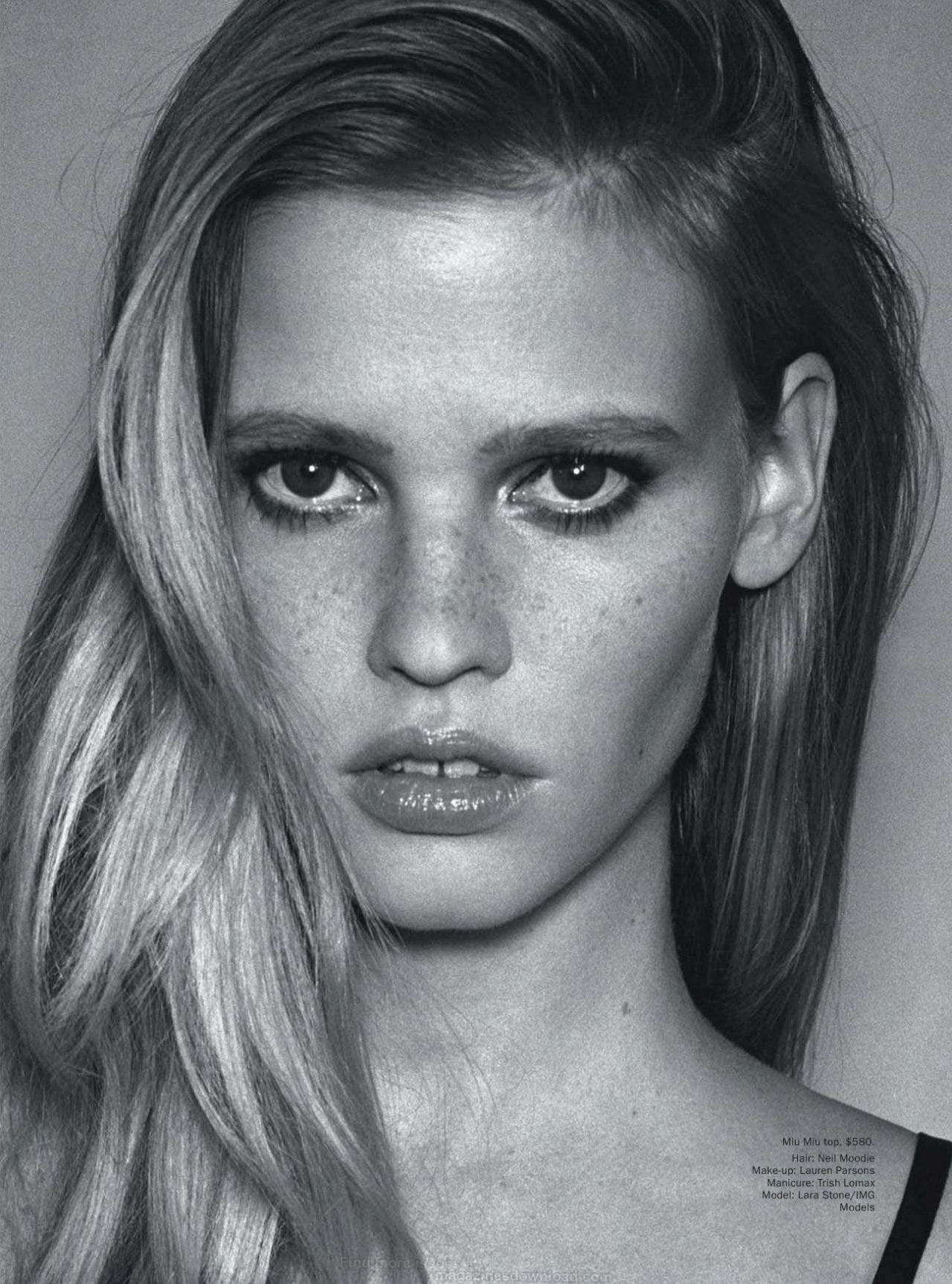 clockworklychee:  Lara Stone in Ahead of the CurveAngelo Pennetta for Vogue Australia March 2013
