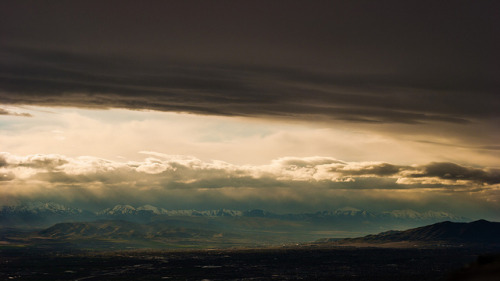 Spring Sunset from Squaw Peak, Utah on Flickr. Amazing sunset last night from Squaw Peak. This is part of a time lapse which will be part of a trail running short on http://www.youtube.com/user/threepeakfilms