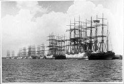 Sailing ships possibly at Newcastle, New South Wales by Australian National Maritime Museum on The Commons on Flickr.visit  http://yachtingblog.tumblr.com/