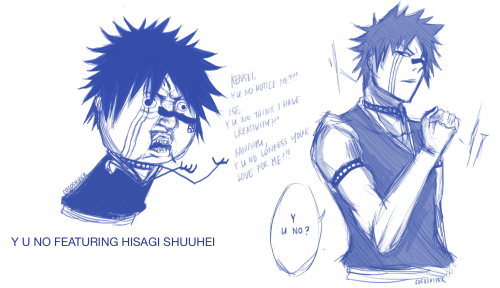 I CAN'T EVEN. My contest entry for Hisagi-fans dA group xD   KUBO, Y U NO BRING HISAGI BACK?!