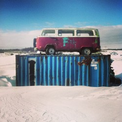 VW on a CONEX (at Dillingham Boat Harbor)