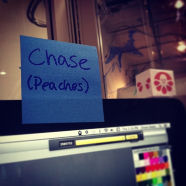 So they call me Peaches at work… (at CustomInk)