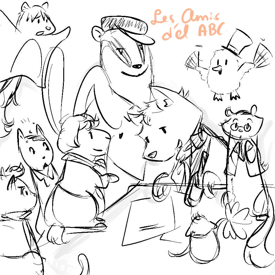 SKETCH DUMP. The Aminals :D Catjolras, Combeferret, Grandog, Courfhareac, L'catle, Jeham Stervaire, Dueilly, Flying Jolyrrel.