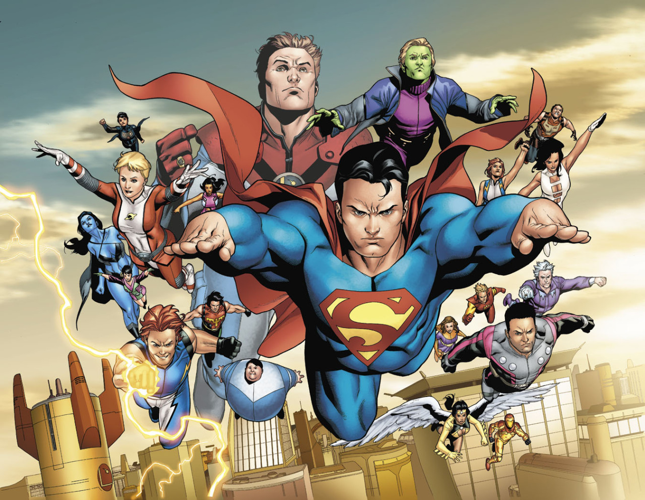 Superman & The Legion Of Superheroes x Clayton Henry