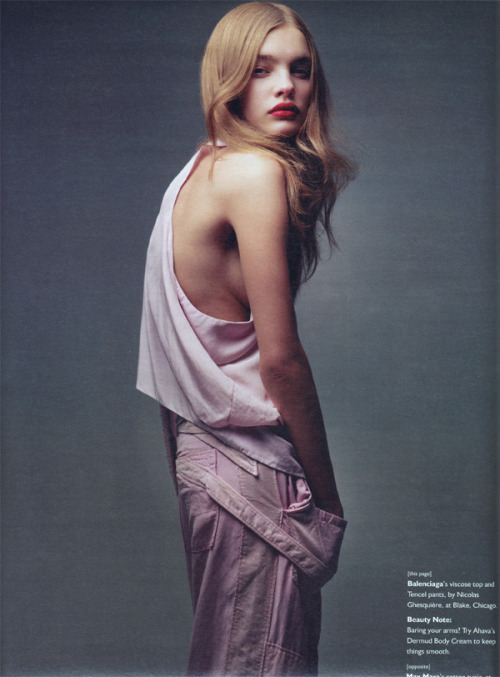 canyouwhoopit:  W Magazine April 2002 Natalia Vodianova by Craig McDean Edited by Alex White
