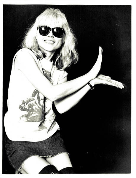 Style icon and musician Debbie Harry in a pair of classic shades similar to those seen on the runway at the Tracy Reese Fall 2013 show.
