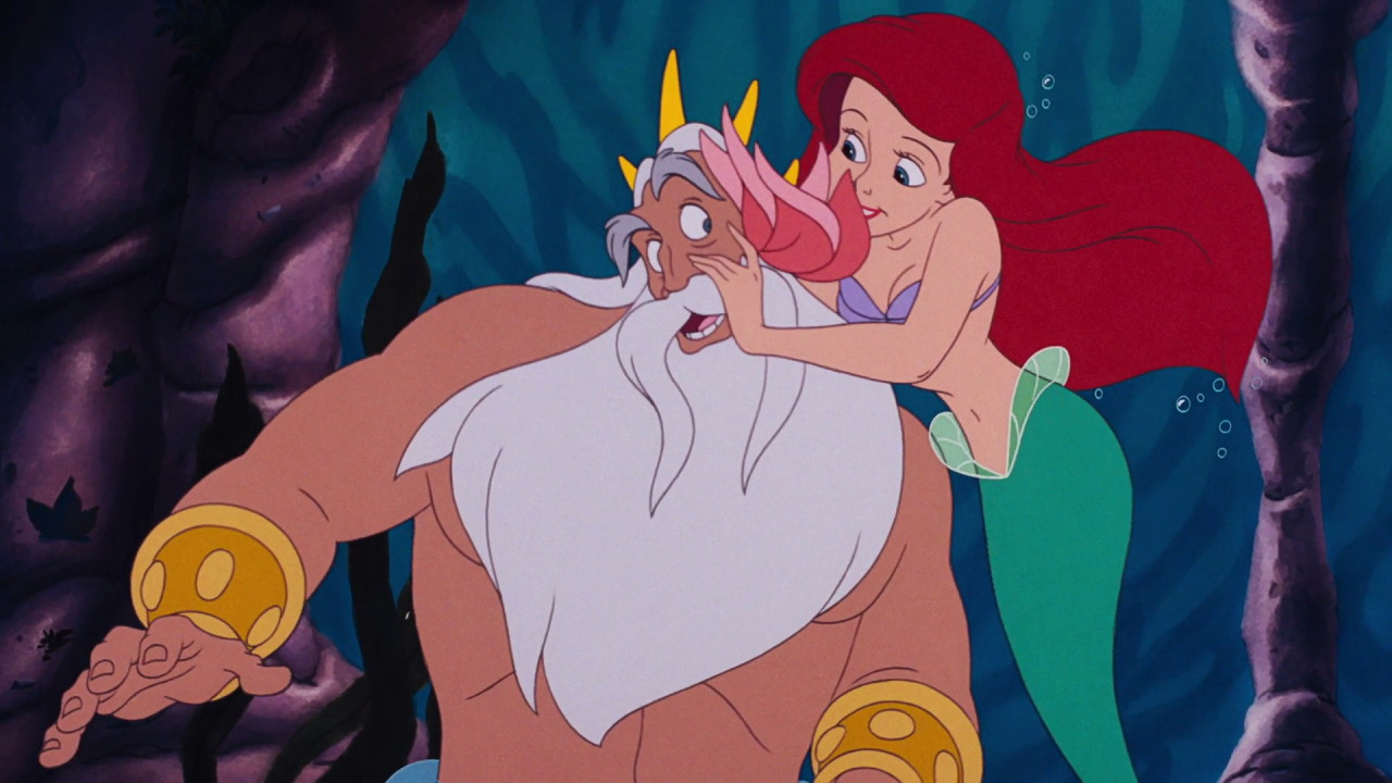 Uncategorized Ariel And King Triton ariel prince eric king triton melody disney screencaps fathers
