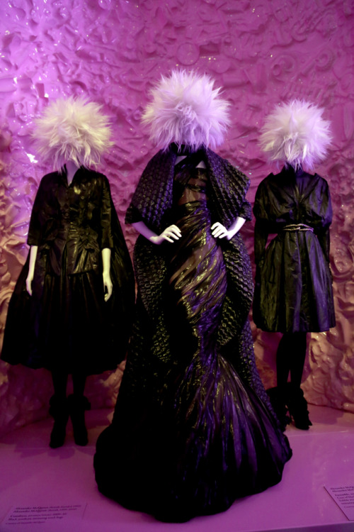 Alexander McQueen Fall 2009 dresses @ the MET 'Punk: Chaos to Couture' 2013 exhibition
