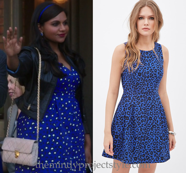 """Softnet's cobalt blue leopard print dress from """"Caramel Princess Time"""" is a standout piece but if the price is too standout for you, here's a similar look for almost 1/10th of the price! Forever 21 Pleated Leopard Dress - $29.90 See Softnet's actual..."""