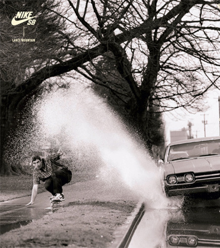 Sidewalk Surfing—Jon Humphries photo of Lance Mountain for Nike
