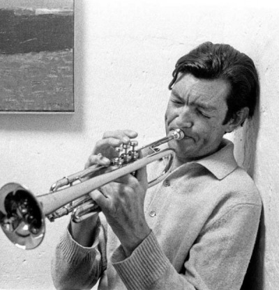 Julio Cortazar on trumpet