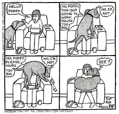 tastefullyoffensive:  [Off the Leash by Rupert Fawcett]